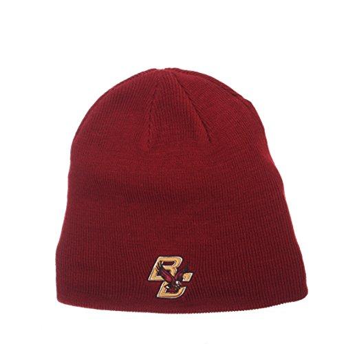 Team Colors Knit Beanie (NCAA Boston College Eagles Edge Knit Beanie, Adjustable, Team Color)