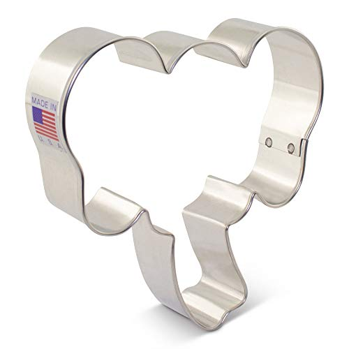 Elephant Face Cookie Cutter by Delores Sword - 3.75 Inch - Ann Clark - USA Made Steel