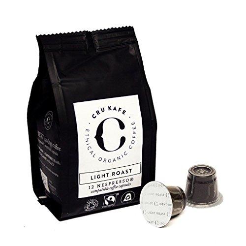 CRU Kafe Nespresso Compatible Capsules Organic Coffee Capsules - Light Roast (48 Capsules)