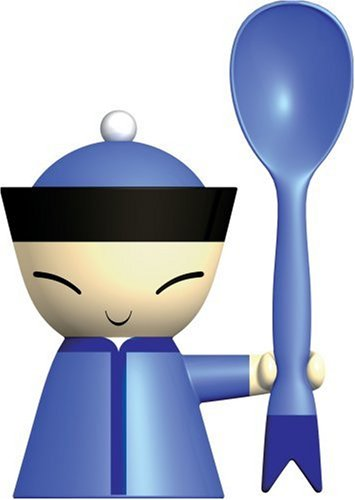 Mr. Chin Egg Cup with Salt Castor and Spoon by Stefano Giova