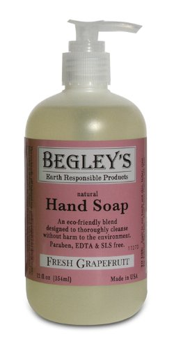 Begley's Natural Hand Soap, Fresh Grapefruit, 12 oz, (Pack of 6) ()