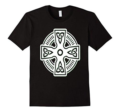 Celtic Shamrock Irish Cross - Men's Irish Celtic Cross Shirt Trinity Knot St Patrick Day Ireland XL Black