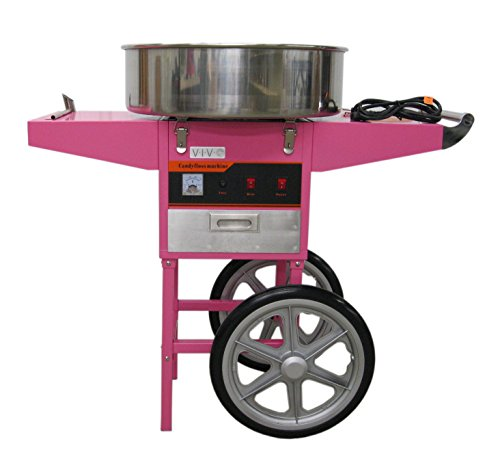 Electric Commercial Cotton Candy Machine / Candy Floss Maker Pink Cart Stand VIVO (CANDY-V002) by VIVO