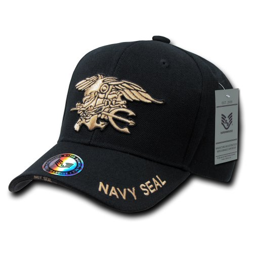 Rapiddominance Navy Seals The Legend Military Cap, Black