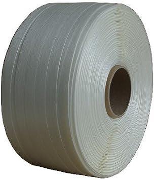 Polyester Fadenstrukturband Umreifungsband 35mm weiß Zugkraft 1400 kg HOTMELT