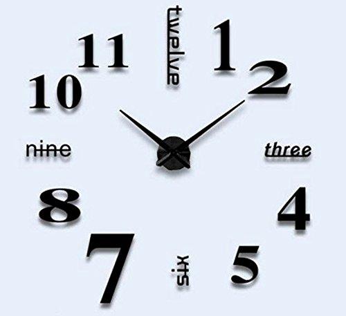 2016 New 3D Large Quartz Clock Home Decor Modern Fashion Watch Diy Big Analog Wall Clock Mirror Sticker Living Room Decoration