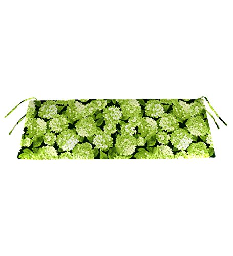 Classic Polyester Outdoor Swing/Bench Cushion, 36'' x 16'' x 3'' - Forest Hydrangea