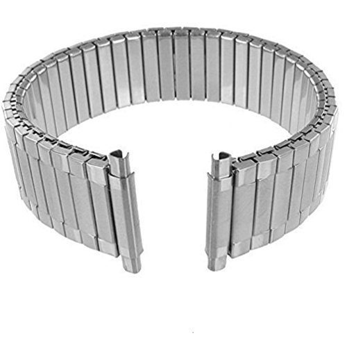 16-22 Men's Expansion Stretch Watch Band, Flex Radial Replacement Strap- Stainless Steel