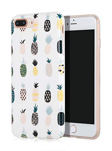 SunshineCases【Tropical Pineapples】 Flexible, Thin, Non-Slip Case Design【Compatible: Apple iPhone 8 Plus & iPhone 7 Plus】