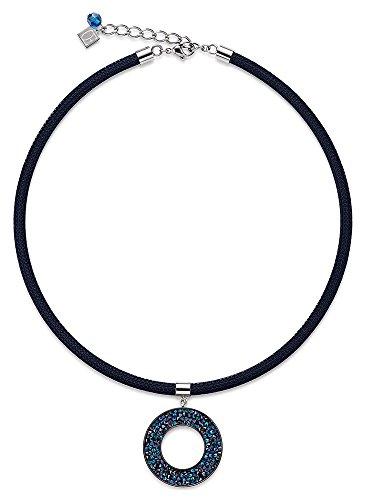 Coeur de Lion - 4841/10-0721 : Collier Femme Nylon et Cristal de Swarovski - Bleu