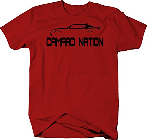 Novelty Inc Camaro Nation American Muscle Car Tshirt - 2XL Red