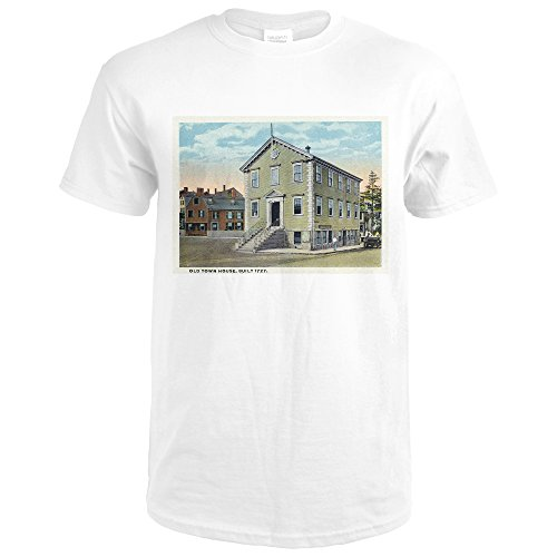 Marblehead, Massachusetts - Exterior View Of The Old Town House (Premium White T-Shirt - Old Townhouses