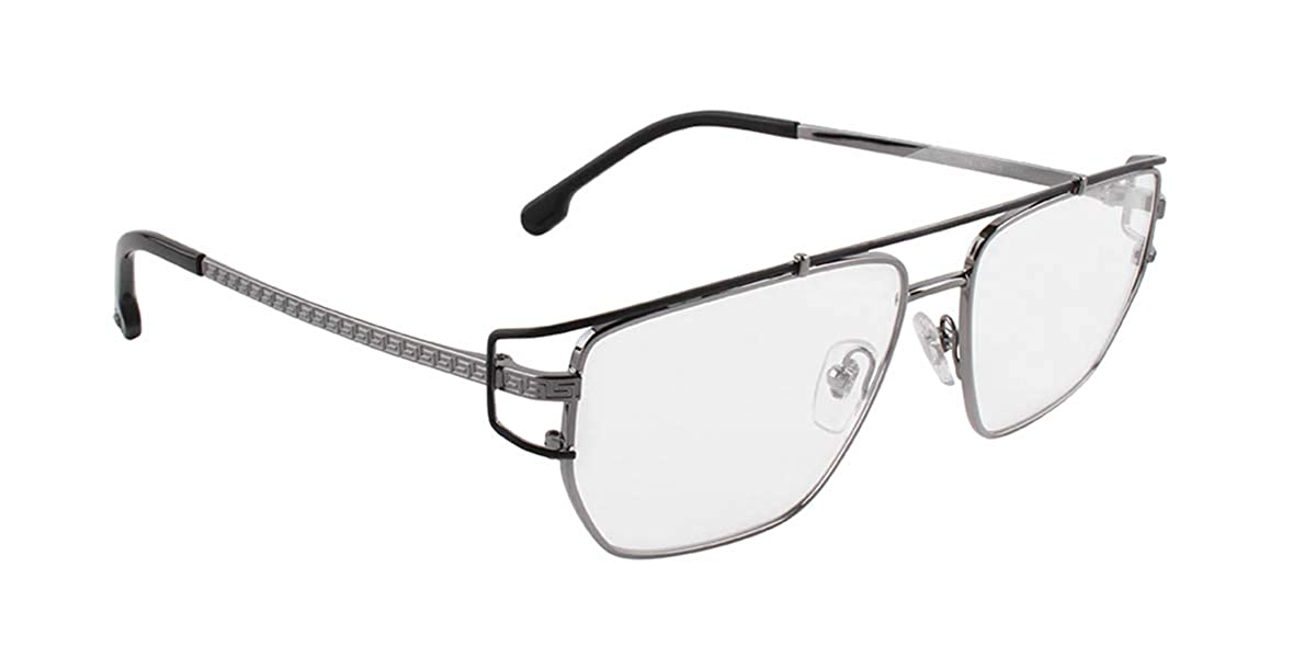 0b9789bba4 Amazon.com  Versace VE1257 Eyeglass Frames 1256-55 - Gunmetal  VE1257-1256-55  Clothing