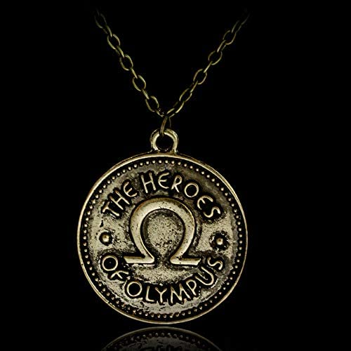 Amazon.com: Calvas Percy Jackson Camp Half Blood The Heroes of Olympus Ivlivs Coin Pendants Necklaces Vintage Accessories - (Length: 50cm): Arts, Crafts & Sewing