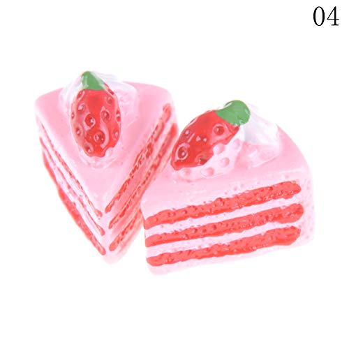 1 piece Cute Mini Play Toy Fruit Food Cake Candy Miniature Fruit Donuts Kitchen Play Sale Toys Hot Biscuit For Dolls Accessories