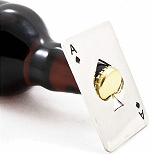 Creative Poker Card Beer Bottle Opener Personalized Funny Stainless Steel 11-in-1 Multifunction Credit Card Can opener Bar Tool