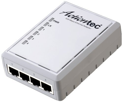 ACTIONTEC 500 Mbps Powerline Ethernet Adapter and 4-Port Hub Kit (PWR514K01) by Actiontec (Image #1)