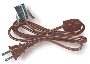Lamp Cord Has Clip In Socket End Plug And Rotary Switch