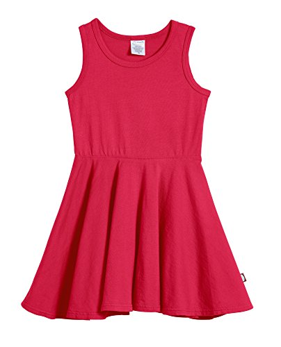 City Threads Big Girls' Cotton Party Twirly Tank Dress - Sensitive Skin and Sensory Friendly - School Summer, Candy Apple, Size -