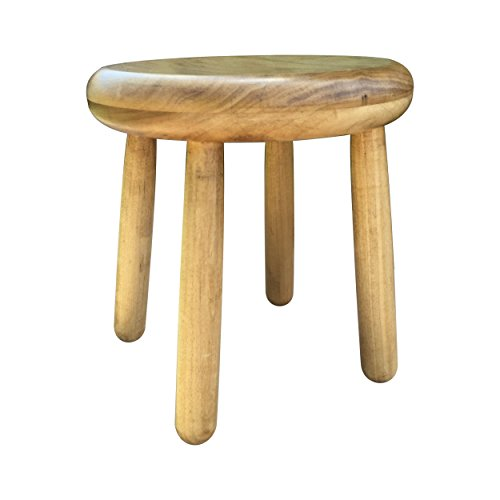 Small Wood Four Legged Stool, Modern Plant Stand, Choose Finish by Candlewood Furniture, Wooden, Tea Table, Kids Chair, Decorative by Candlewood Furniture