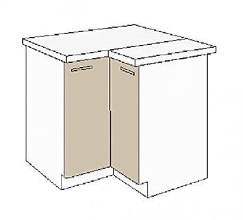 Eckschrank Küche | Kuchen Eckunterschrank 89x89 Cm Fur Das Modell Dave 240 Eiche