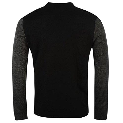 Pierre Cardin Panel Knit Pullover Herren Pflaume/Anthrazit Sweatshirt Pullover Top