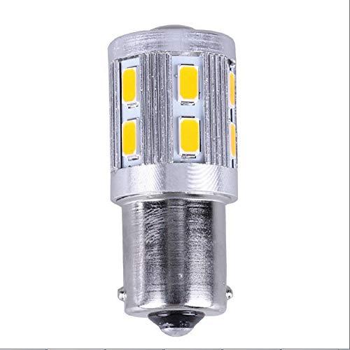 (12V AC/DC Low Voltage 5Watt BA15S S8 SC Bayonet Single Contact Base 1156 1141 LED Light Bulb Warm White 3000K, for Outdoor Landscape Lighting Path Lighting Deck Lighting (White Light , OneSize))
