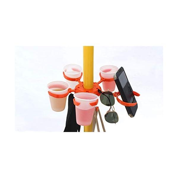 Speedymil Porta Bicchieri e Porta Borse per ombrelloni (Verde) 5 spesavip