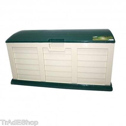 tradeshoptraesio® – Arcón baúl caja multiusos de resina Resistente 227litri con ruedas