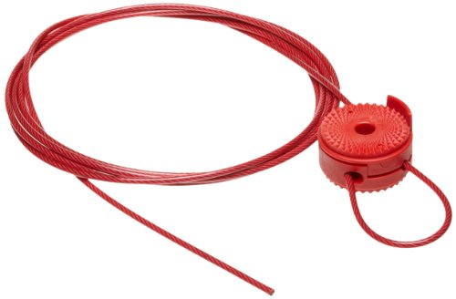 "Brady Cable Lockout, 1/8"" Diameter, 8' Length, Sheathed Meta"