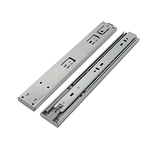 5 Pair x Probrico 12'' Push to Open Side Mount 100 LB Capacity Full Extension Ball Bearing 3 Fold Drawer Slides by Probrico (Image #1)