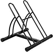 OneTwoFit OT082 Bicycle Stand for 2 Bikes 2 Bike Floor Stand for Bikes Bicycle Bicycle Stand Storage Pack Stan