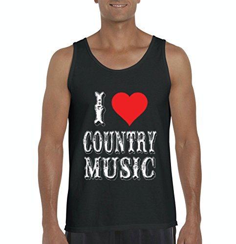 NIB I Love Country Music Festival Gift For a Concert Birthday Christmas Mens Tanks Country Cast