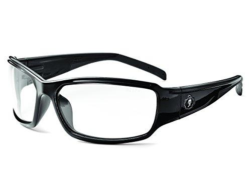 Ergodyne Skullerz Thor Anti-Fog Safety Glasses - Black Frame, Clear Lens (Black Anti Fog Safety Glasses)