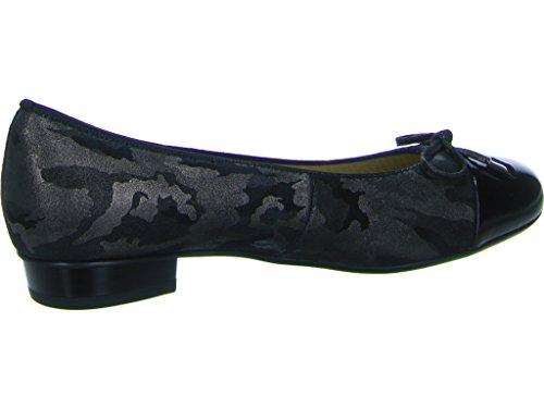 Women's Ara 12-33760 Bari Ballerina Court Shoes Ara 17 Black ZwjNdP