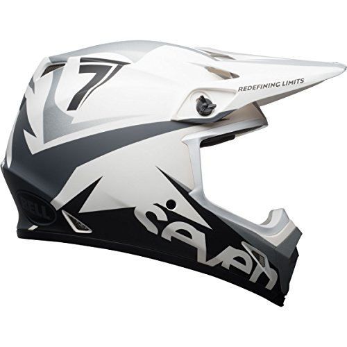 Velocity Off Road Helmet (Bell Mips MX-9 Adult Seven Ignite Off-Road Helmet - Matte White / 3X-Large)