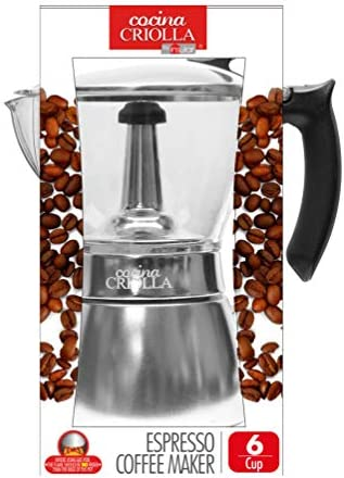 Olla para hacer café expreso con parte superior transparente, 6 ...