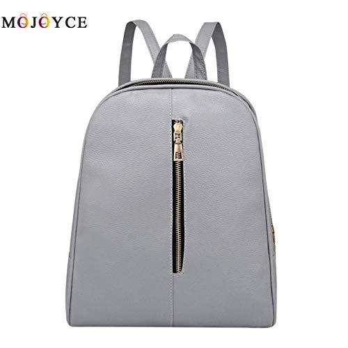 Amazon.com: Designer Women PU Leather Backpack Teenagers Girls Zipper Simple Solid School Preppy Students Shoulder Bagpack Mochila: Kitchen & Dining
