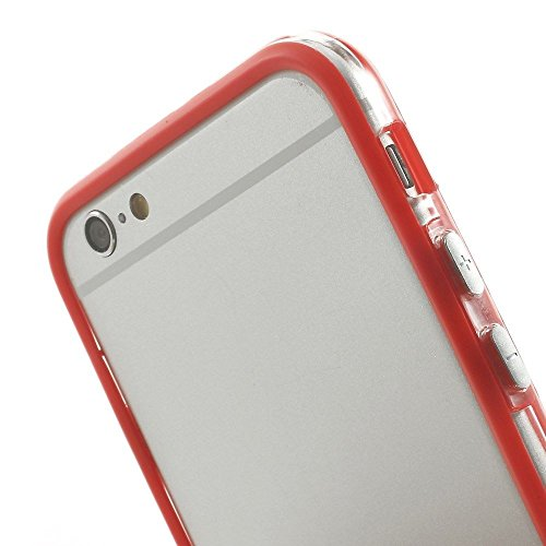 Executive Style Iphone 6 Plus Silicon Bumper Transparent Red by G4GADGET®