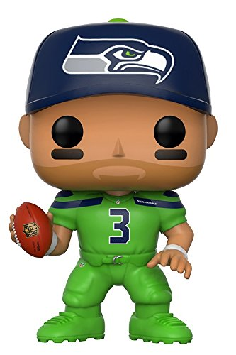 Funko Pop NFL: Russell Wilson (Seahawks Color Rush) Collectible Figure (Rush Delivery)