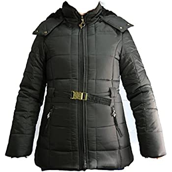 Amazon.com: Baby Phat Quilted Winter Coat in Chocolate