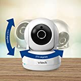 "VTech VC9312-245 Wi-Fi IP Camera with 720p HD, Remote Pan & Tilt, Free Live Streaming, Automatic Infrared Night Vision & 5"" Home Viewer, Silver/White"