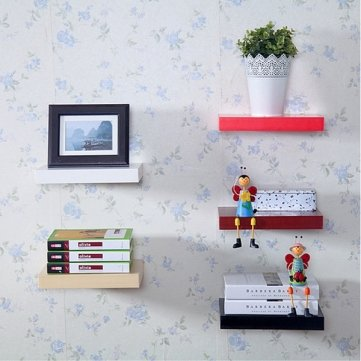 Floating Wall Shelves Hanging Shelf Display Wood Book Shelf 60 * 15cm Kyz Kuv