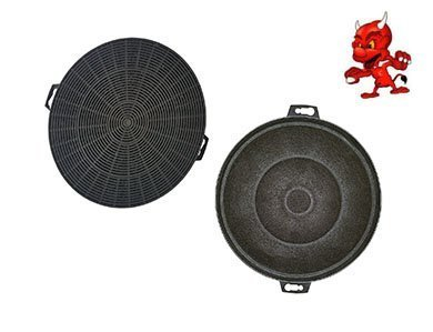 Set 2 Activated Carbon Filter Filters Carbon Filter for Exhaust Hood Cooker Hood Neff D8602 Stainlesssteel