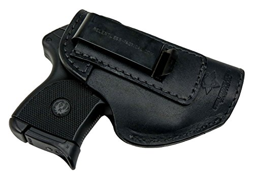 Relentless Tactical The Defender Leather IWB Holster - Made in USA - Fits Ruger LCP, LCP2, Sig P238, P290, S&W Bodyguard .380 and Most .380's - Made in USA - Black Right Handed