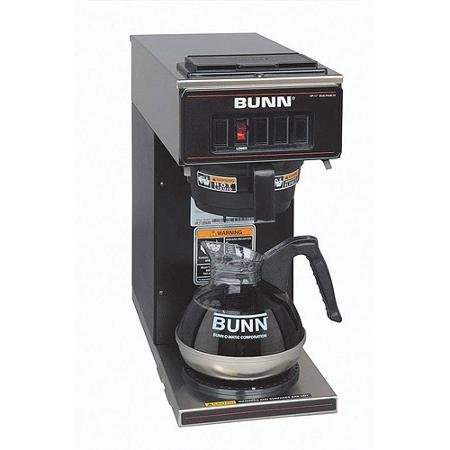 BUNN VP17-1 Low Profile Commercial Pourover Coffee Brewer with 1 Warmer, Black
