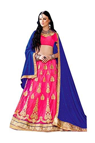 IWS Indian Women Designer Wedding pink Lehenga Choli K-4640-40737