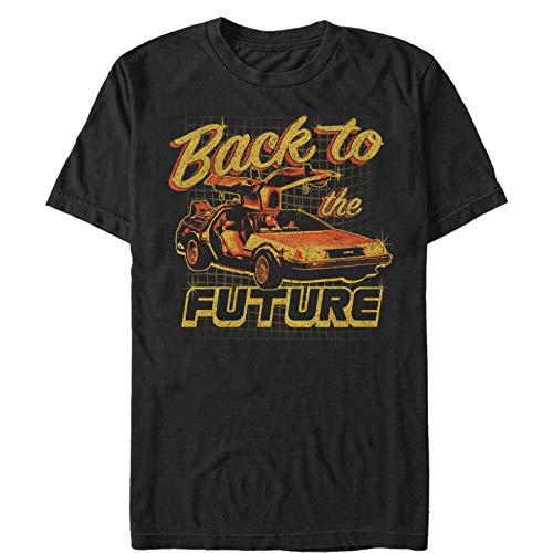 Fifth Sun Back to The Future Men's Delorean Schematic Print Black T-Shirt ()