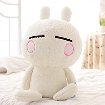 30cmCute Anime Rabbit Tuzki Expression Plush Toys Doll,Big Size Bunny Stuffed Animal Funny Tuzki