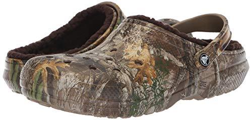 Pictures of Crocs Men's and Women's Classic Fuzz Lined Realtree Edge Clog, Great Indoor or Outdoor Warm & Fuzzy Slipper Option 4